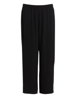 System Cropped Silk Straight Leg Pants by Eileen Fisher