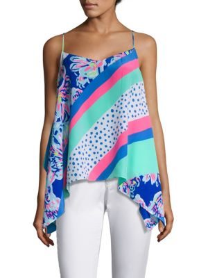 Alora Silk Top by Lilly Pulitzer