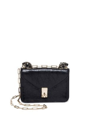 Panther Mini Leather Shoulder Bag by Valentino Garavani