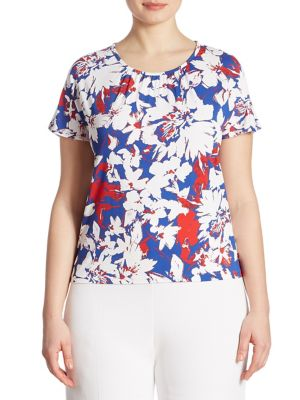 Plus Floral Print Top by Stizzoli, Plus Size