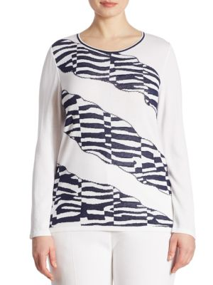 Plus Animal Print Sweater by Stizzoli, Plus Size