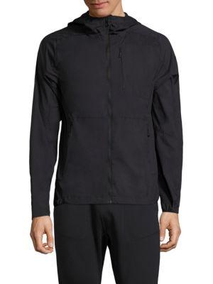 J.LINDEBERG Windbreaker Hooded Jacket in Black
