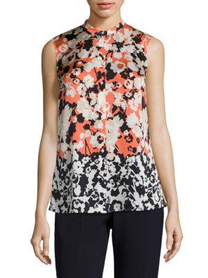 Buy BOSS Bamina Floral-Print Silk Blouse online sale