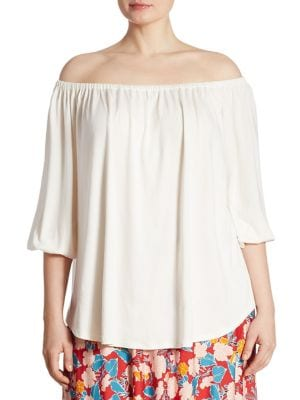 Spring White Label Ayumi Off-the-Shoulder Blouse by Rachel Pally, Plus Size