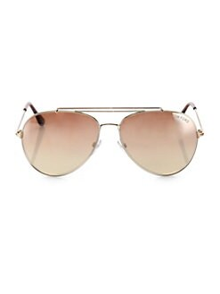 81eaec9ec9b Indiana 58MM Mirrored Aviator Sunglasses GOLD. QUICK VIEW. Product image.  QUICK VIEW. Tom Ford