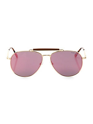 c690918a63 Fendi - 56MM Hexagon Aviator Sunglasses - saks.com