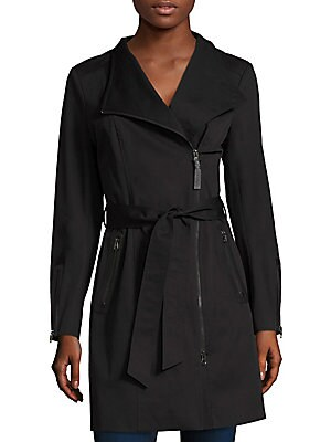 Mackage Women's Estela Belted Trench Coat - Black - Size Small