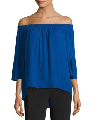 Trish Off-the-Shoulder Silk Blouse by KOBI HALPERIN