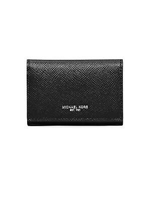 Michael kors leather card case saks michael kors harrison business card holder colourmoves