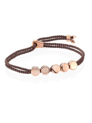 Linear Bead Friendship Bracelet/Mink by Monica Vinader