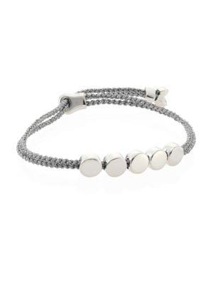 Monica Vinader Bracelets Linear Bead Sterling Silver Friendship Bracelet/Silver Metallica