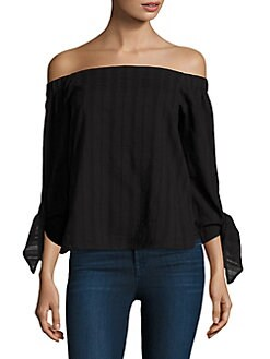 Sale 100% Authentic Cheap Buy Authentic Bailey 44 Woman Off-the-shoulder Knotted Jersey Top Midnight Blue Size XS Bailey 44 BzYGcc6yR