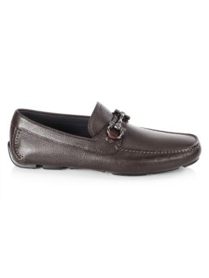 Men's Parigi Pebbled Leather Drivers by Salvatore Ferragamo