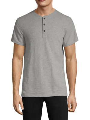 Rag & Bone Men'S Standard Issue Short-Sleeve Henley T-Shirt, Gray