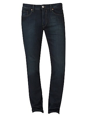 """Image of Versatile true skinny jean with ultra-soft feel Belt loops Zip fly with button closure Five-pocket style Rise, about 10"""" Inseam, about 32"""" Cotton/elastane Machine wash Made in USA. Men Adv Contemp - Contemp Denim And Bottom. Paige Jeans. Color: Cellar. Si"""