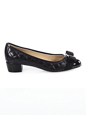 f3377b4ba2dd Salvatore Ferragamo - Vara Quilted Leather Block Heel Pumps