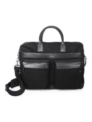 Canvas Casual Briefcase, Black