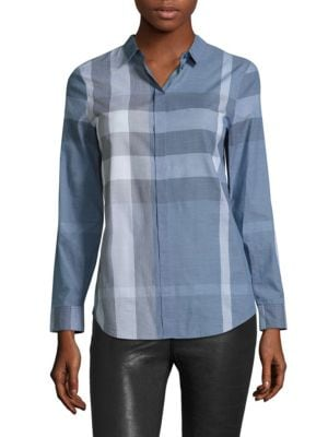 Explode Checked Shirt by Burberry