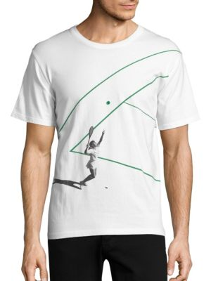 TEE LIBRARY Short Sleeve Cotton T-Shirt in White