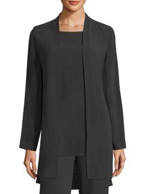 Silk Georgette Long Vest by Eileen Fisher