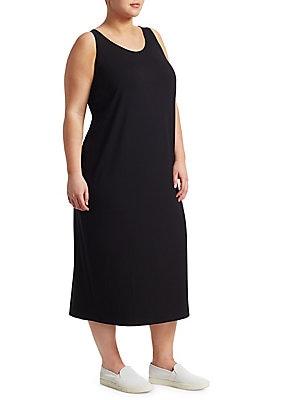 Eileen Fisher Sp 44 Sp Plus Size Dress | saks.com