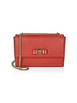d4f054a918dc Salvatore Ferragamo. Medium Ginny Leather Shoulder Bag