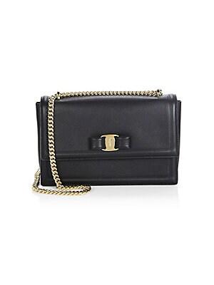 6a195cd683f Salvatore Ferragamo - Miss Vara Leather Mini Bag - saks.com