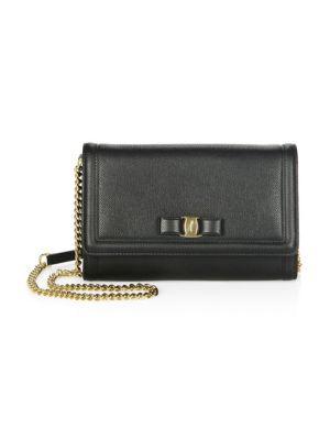 Miss Vara Leather Mini Bag by Salvatore Ferragamo