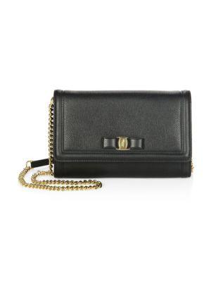 Mini Vara Leather Crossbody Bag - Black