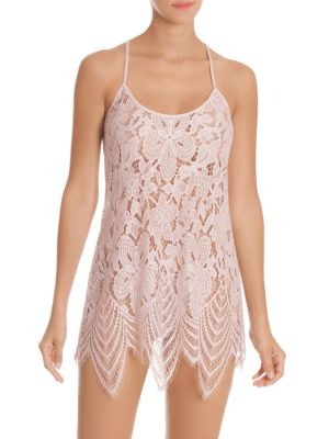 IN BLOOM Lace Scalloped Chemise in Orchid