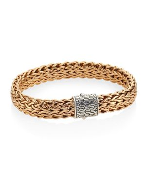 JOHN HARDY Men'S Classic Chain Silver And Bronze Large Chain Bracelet in Silver/ Bronze