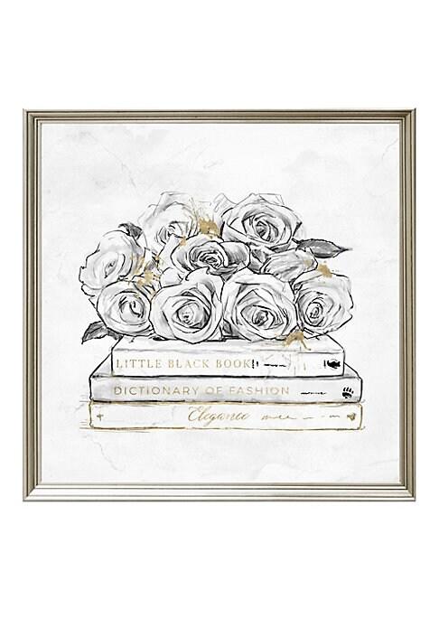 Framed Rose  Books Print