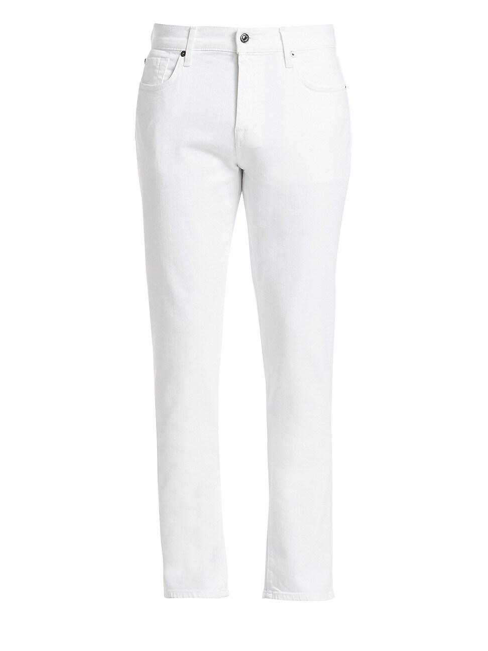 7 For All Mankind Men's Slimmy Luxe Performance Slim-fit Jeans In White