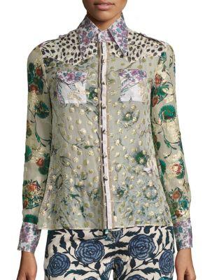 Patchwork Silk Blouse by Roberto Cavalli