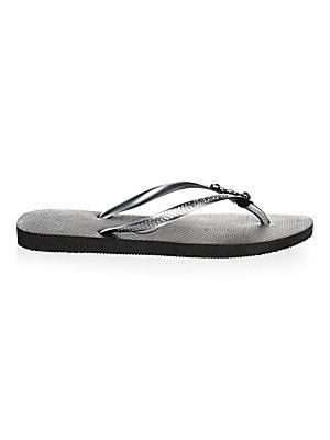 2d81ce55ccefa Havaianas - Slim Lux Swarovski Crystal Flip Flops - saks.com