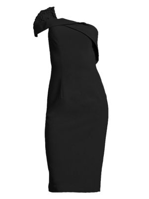 Rochester One Shoulder Cocktail Dress by Black Halo