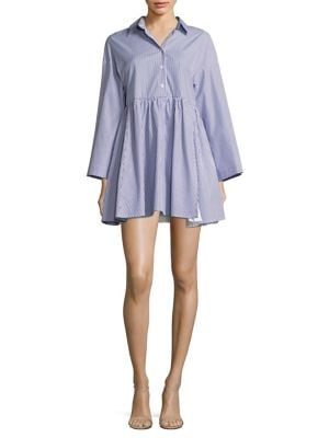 Cosmo Striped Cotton Shirtdress by Sandy Liang