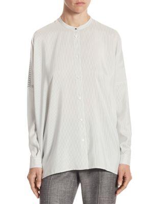 Emily Silk Striped Shirt by Loro Piana