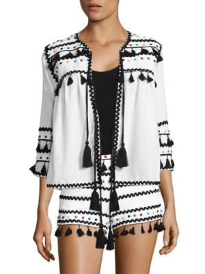 Yehuda Tassel Studded Cardigan by DODO BAR OR