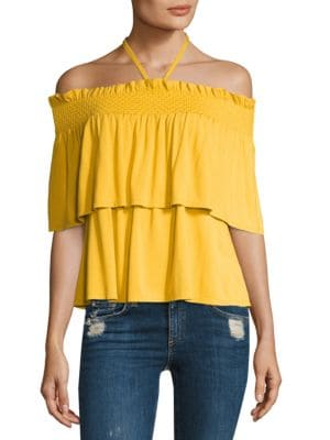 Ghiradelle Off-the-Shoulder Top by Rebecca Minkoff