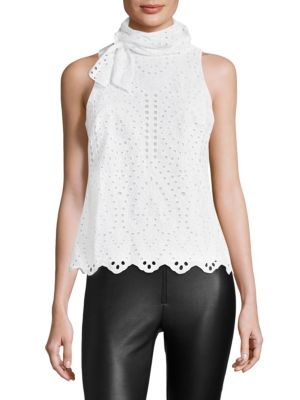 COLLECTION Sleeveless Eyelet Top by Saks Fifth Avenue
