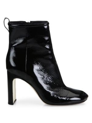 Ellis Patent Leather Ankle Boots - Black Size 6.5 in 009 Blackpa