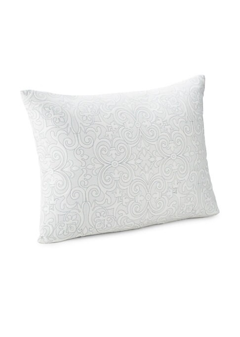 """Image of EXCLUSIVELY AT SAKS FIFTH AVENUE. From the Essex Collection. Soft cotton sateen sham in scroll motif.26""""W x 20""""L.Cotton. Dry clean. Imported."""