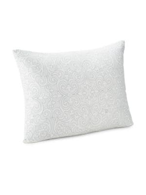 "Image of EXCLUSIVELY AT SAKS FIFTH AVENUE. From the Essex Collection. Soft cotton sateen sham in scroll motif.26""W x 20""L.Cotton. Dry clean. Imported."