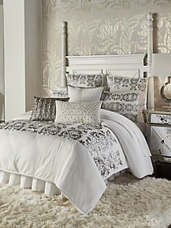 product image quickview callisto home vivara metallic embroidered cotton duvet cover
