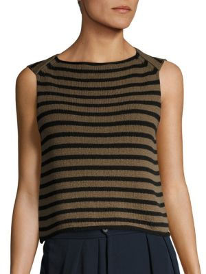 Striped Knit Tank Top by Vince