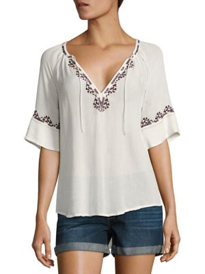 Chessa Embroidered Blouse by PAIGE