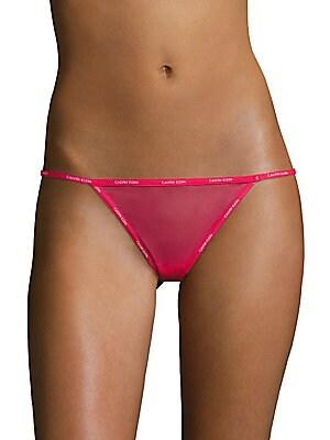 2f0d348a911 Calvin Klein Underwear - Sheer Marquisette Thong - saks.com