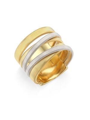 18K White & Yellow Gold Masai Five-Strand Crossover Ring