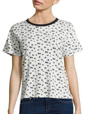 Floral-Print Cotton Tee by rag & bone/JEAN